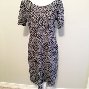 Honey & Lace/Piphany Short Sleeve Dress Navy